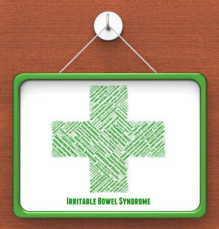 bowel: Irritable Bowel Syndrome Showing Large Intestine And Illness Stock Photo