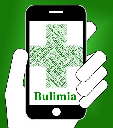 binge: Bulimia Illness Indicating Binge Vomit Syndrome And Anorexia Nervosa