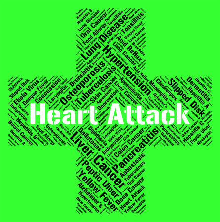 infarction: Heart Attack Representing Acute Myocardial Infarction And Acute Myocardial Infarction Stock Photo