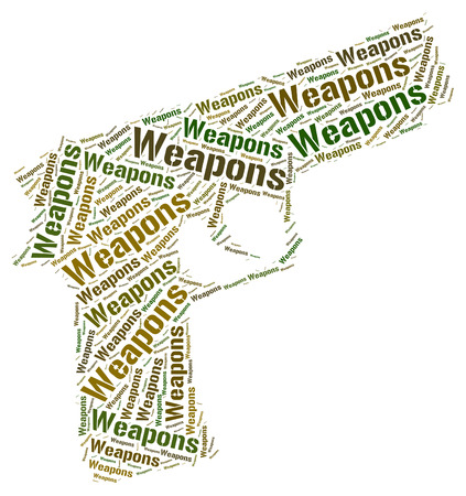 munition: Weapons Word Showing Armory Wordclouds And Weaponry