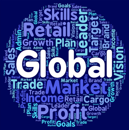world globe: Global Words Representing Worldly Globalize And Earth