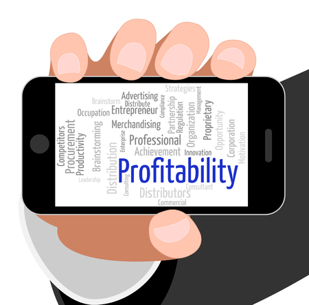 profitable: Profitability Word Indicating Return Wordclouds And Profitable