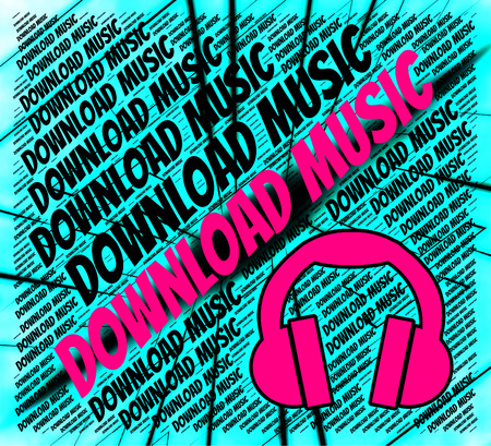 melodies: Download Music Meaning Sound Track And Downloaded Stock Photo