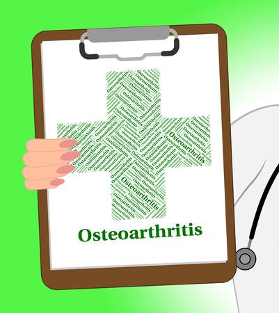 osteoarthritis: Enfermedad osteoartritis Mostrando enfermedad degenerativa articular y mala salud Foto de archivo