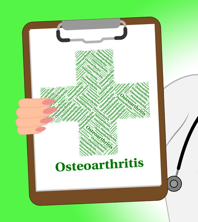 poor health: Osteoarthritis Illness Showing Degenerative Joint Disease And Poor Health