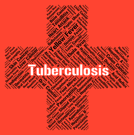 contagion: Tuberculosis Word Showing Phthisis Pulmonalis And Contagion