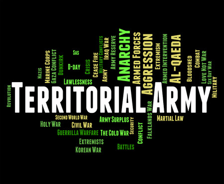armed services: Territorial Army Indicating Armed Services And Conflicts Stock Photo