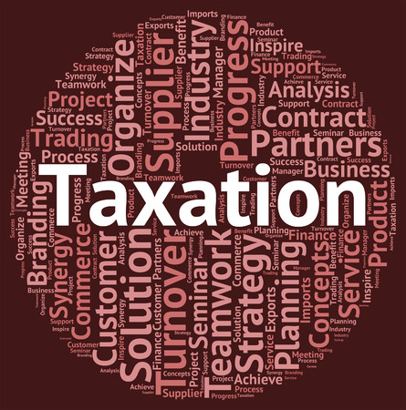 excise: Taxation Word Indicating Duty Excise And Wordclouds Stock Photo