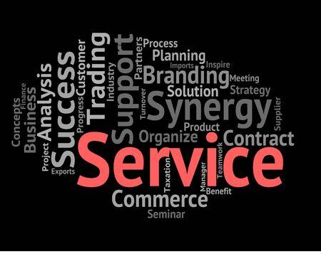 service desk: Service Word Indicating Help Desk And Helpdesk