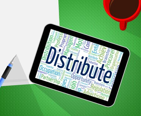 distributor: Distribute Word Representing Supply Chain And Distributor