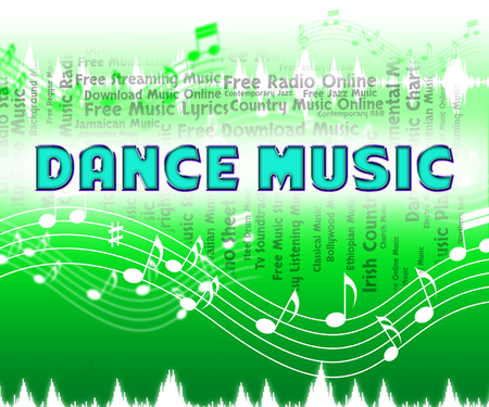 musique dance: Dance Music Signification Sound Track And Songs Banque d'images