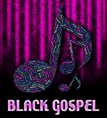 gospel: Black Gospel Showing Sound Tracks And Soul