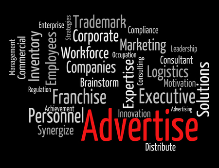 advertise: Advertise Word Showing Wordcloud Words And Wordclouds