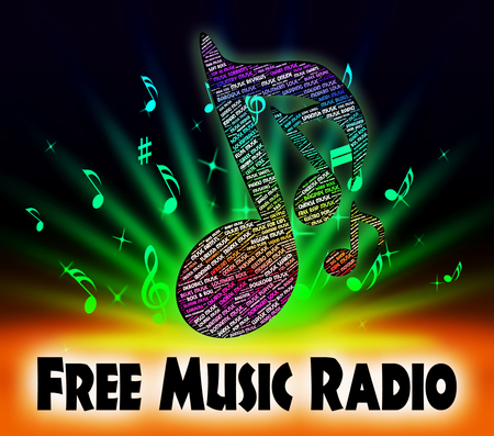 melodies: Free Music Radio Meaning With Our Compliments And With Our Compliments Stock Photo