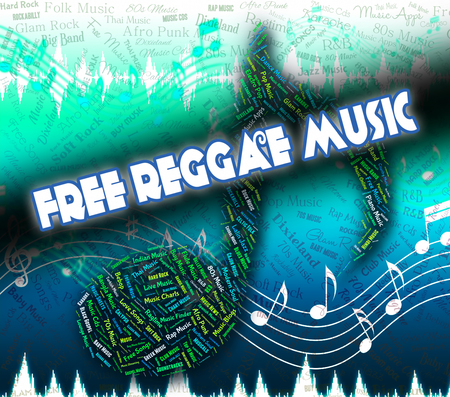 freebie: Free Reggae Music Meaning No Cost And Audio Stock Photo