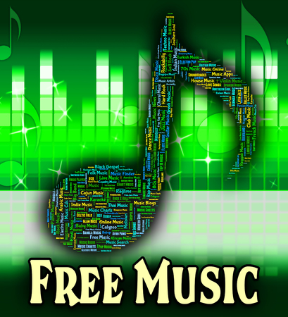 handout: Free Music Indicating No Cost And Handout Stock Photo