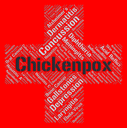 vesicles: Chickenpox Word Meaning Poor Health And Infections