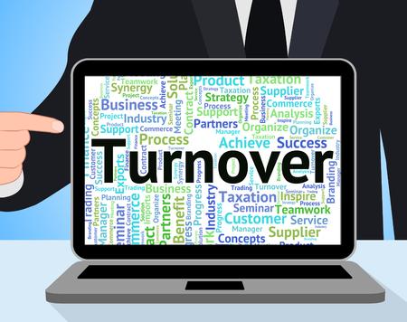 Turnover Word Indicating Gross Sales And Revenue Reklamní fotografie