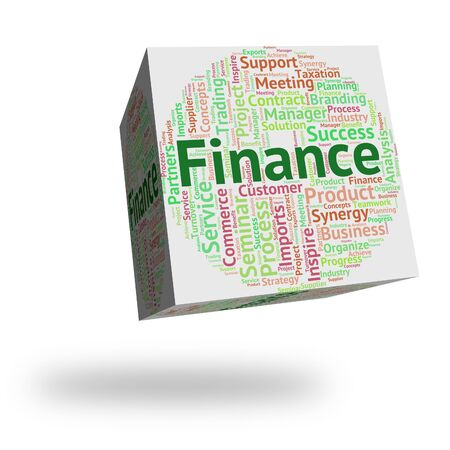 commerce: Finance Word Representing Commerce Wordclouds And Text