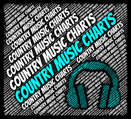 c a w: Country Music Charts Indicating Best Seller And Melody