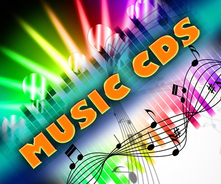 soundtrack: Music Cds Meaning Sound Tracks And Harmony Stock Photo
