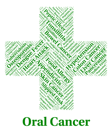 oral cancer: Oral Cancer Indicating Cancerous Growth And Disease