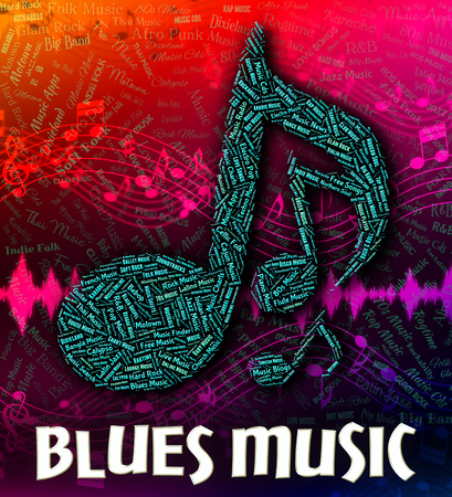 blues: Blues Music Showing Sound Track And Musical