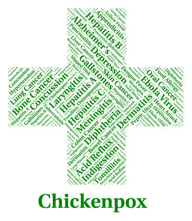 malady: Chickenpox Illness Indicating Poor Health And Vesicles Stock Photo