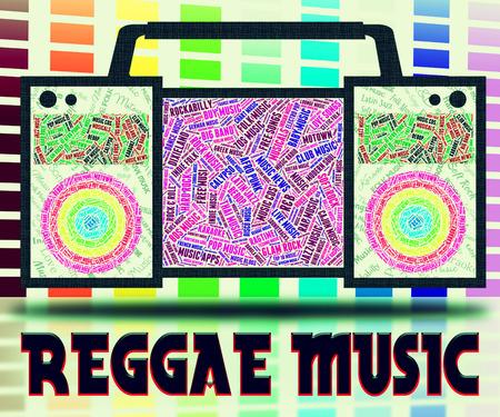 representing: Reggae Music Representing Singing Acoustic And Songs Stock Photo