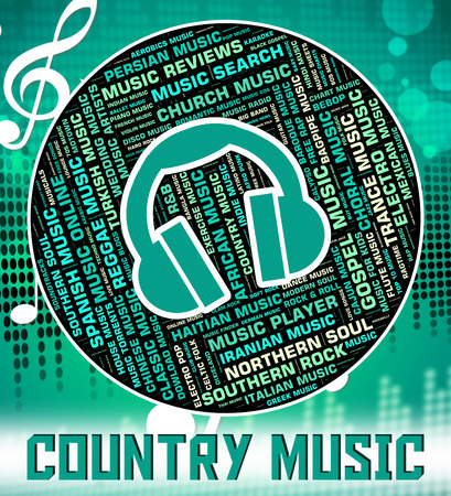 c a w: Country Music Indicating Sound Tracks And Harmonies