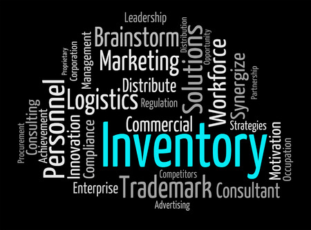 merchandise: Inventory Word Showing Product Merchandise And Stocks