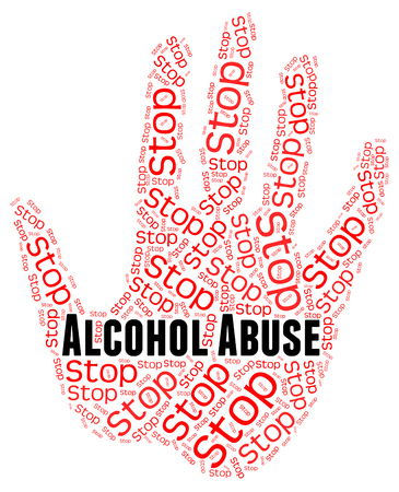 abuses: Stop Alcohol Abuse Indicating Treat Badly And Cruelty