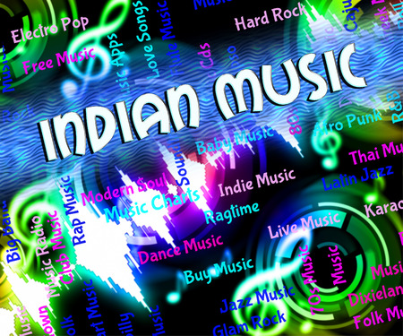 tune: Indian Music Indicating Sound Track And Tune
