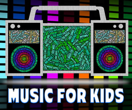 melodies: Music For Kids Indicating Sound Track And Song Stock Photo