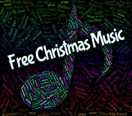 christmastide: Free Christmas Music Representing Sound Tracks And Songs Stock Photo