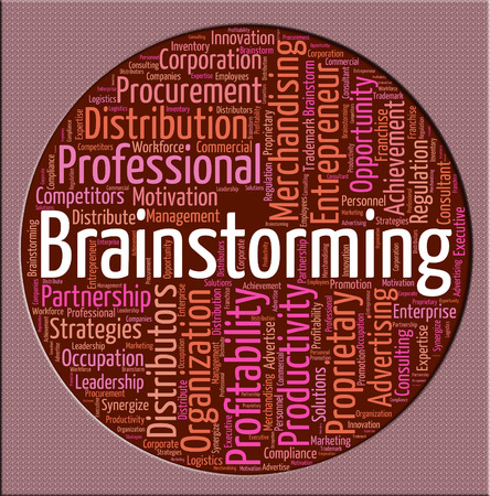 put: Brainstorming Word Showing Put Heads Together And Dream Up Stock Photo