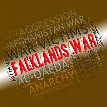 falklands war: Falklands War Indicating Military Action And Clashes