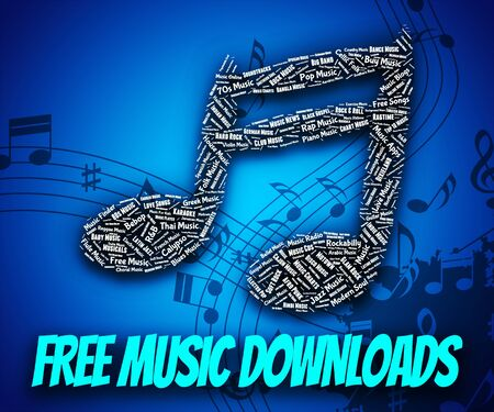 freebie: Free Music Downloads Indicating No Charge And Data