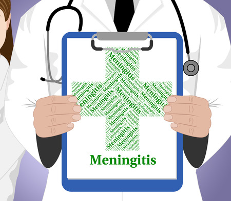 poor health: Meningitis Word Indicating Poor Health And Affliction