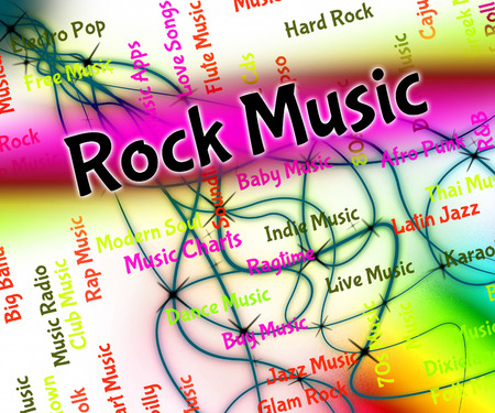 harmonies: Rock Music Meaning Sound Tracks And Musical Stock Photo