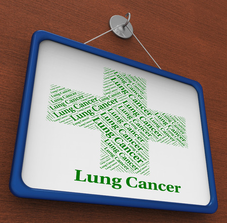 tumors: Lung Cancer Meaning Cancerous Growth And Tumors Stock Photo
