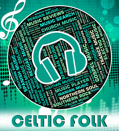 celt: Celtic Folk Representing Sound Tracks And Melody Stock Photo