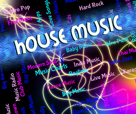 harmonies: House Music Showing Sound Track And Singing Stock Photo