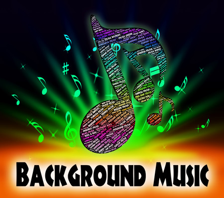 piped: Background Music Representing Sound Track And Melody Stock Photo