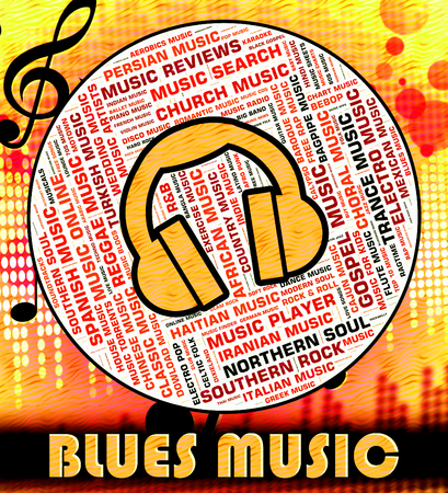 blues: Blues Music Showing Melody Audio And Melodies