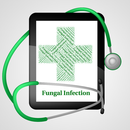 poor health: Fungal Infection Indicating Poor Health And Ulceration
