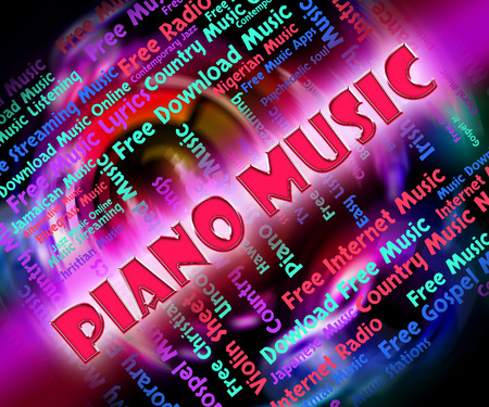 upright piano: Piano Music Showing Sound Tracks And Pianos