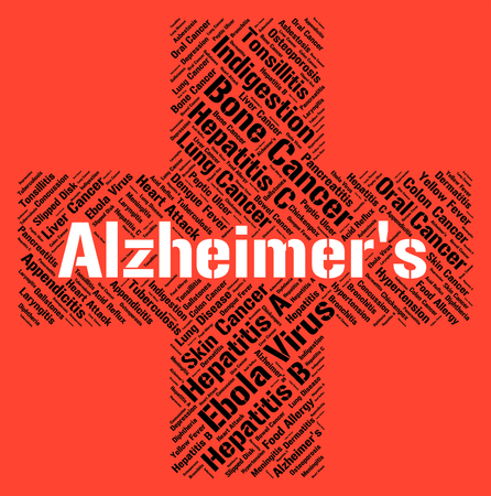 alzheimers: Alzheimers Disease Representing Mental Deterioration And Attack Stock Photo
