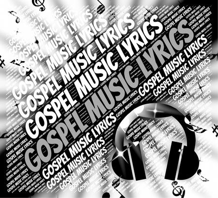 music lyrics: Música Gospel Letras Significado Nuevo Testamento Y Canción Foto de archivo