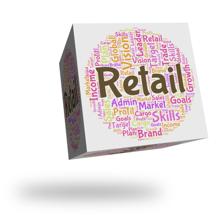 retailing: Retail Word Indicating Selling Text And Market